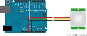 PIR branché à un Arduino Uno