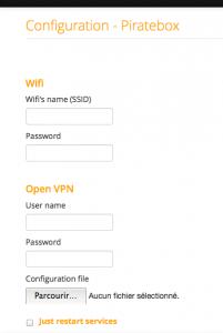 Appli de configuration réseau